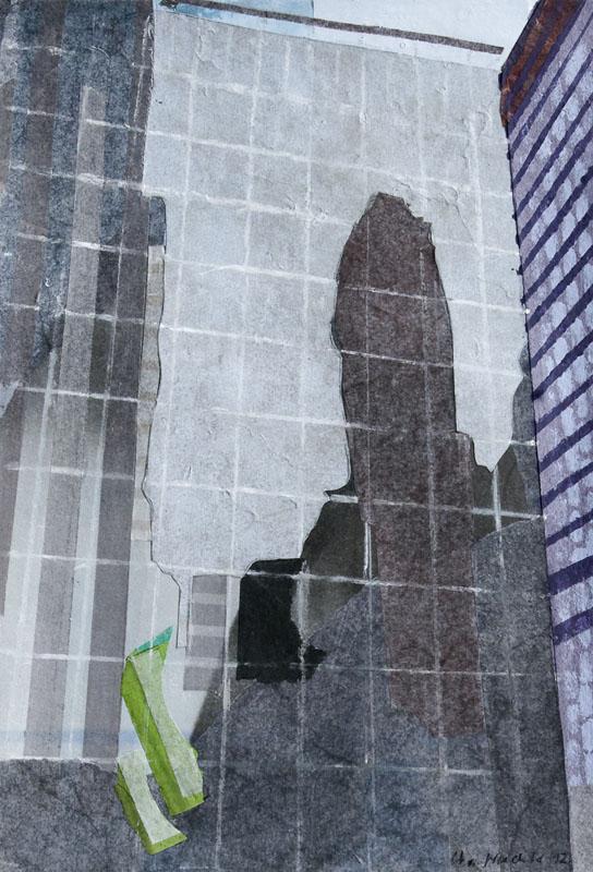 Christiane Wachter, Spiegelung, 27,5x19 cm, , 2012, Mischtechnik auf Papier