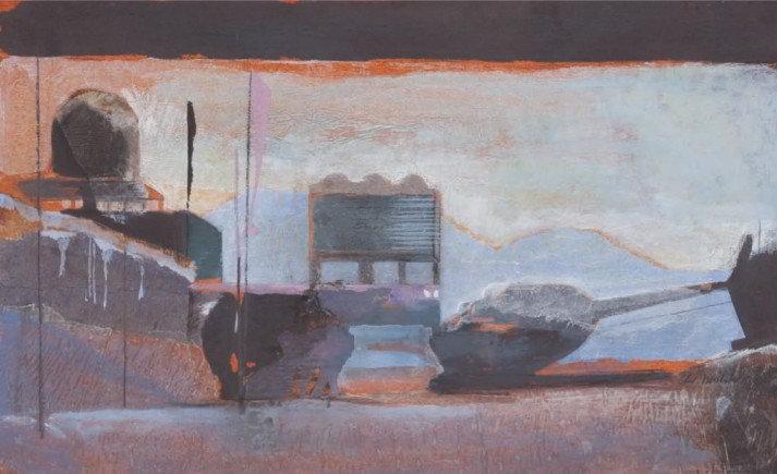 Christiane Wachter, Station II, 32,5x52 cm 2008, Collage auf Papier