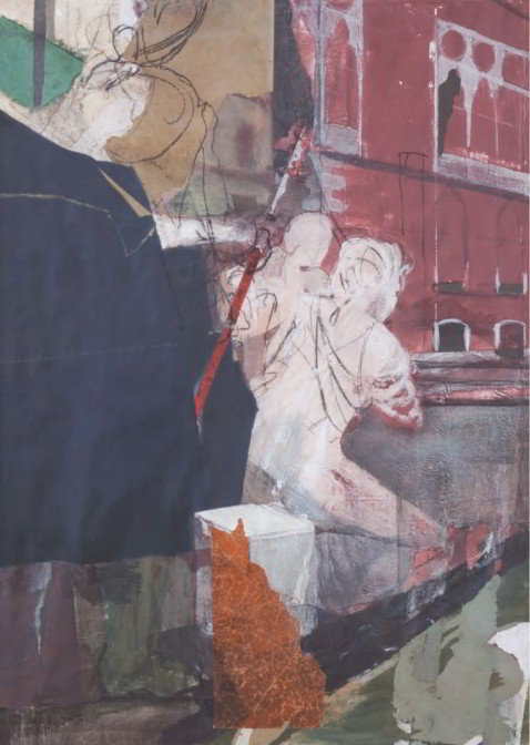 Christiane Wachter, Traghetto, 2009, 140x100 cm, Collage auf Papier