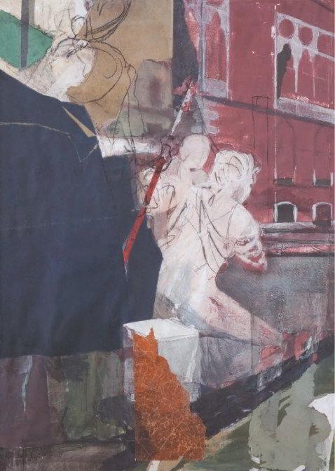 Christiane Wachter, Traghetto, 2009, 140x100 cm, Collage auf Papier