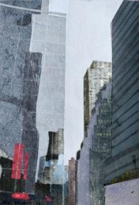 Christiane Wachter, Verschattung, 27,5x19 cm 2012, Mischtechnik auf Papier