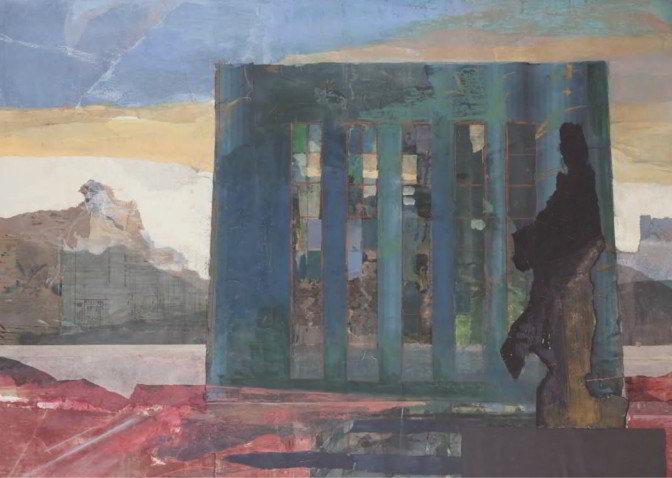Christiane Wachter, Vorwerk, 100x140 cm, 2009, Collage auf Papier