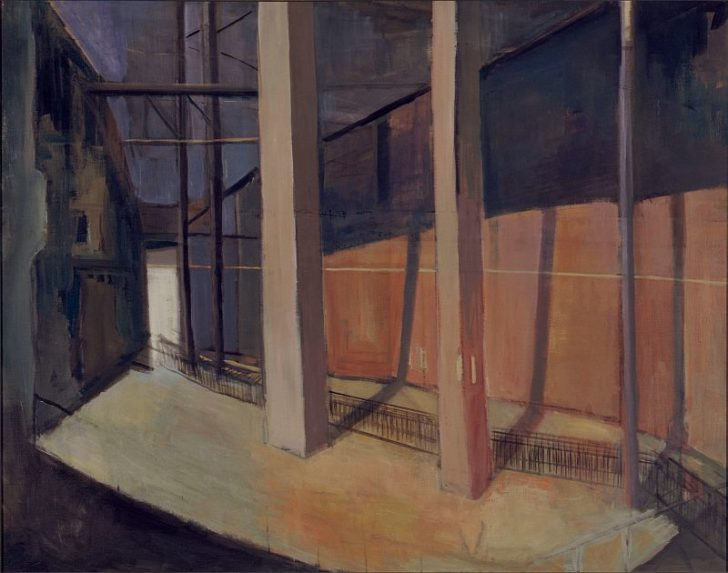 Doris Ziegler, Löwenkäfig, 80x100 cm, 1997, Mischtechnik auf Leinwand