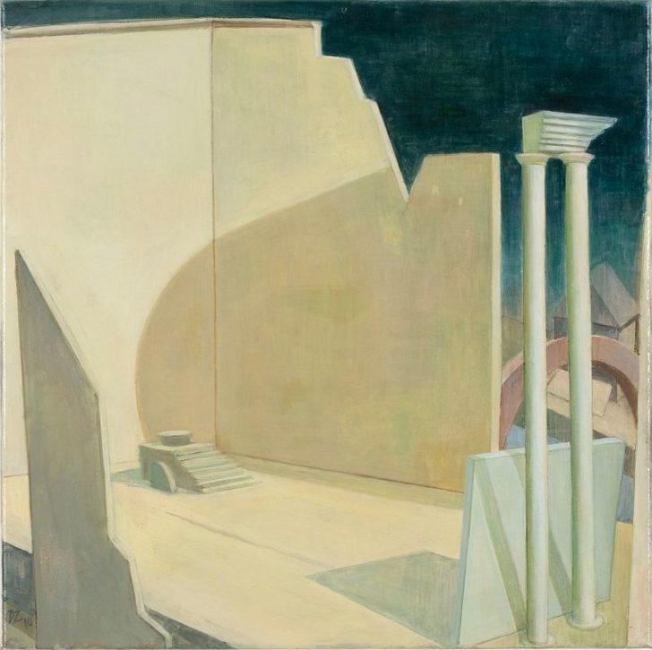 Doris Ziegler, Thron, 60x60 cm, 2010, Mischtechnik auf Leinwand