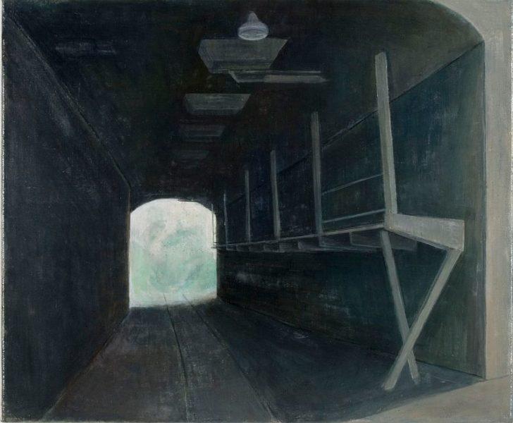 Doris Ziegler, Tunnel, 50x60 cm, 2010, Mischtechnik auf Leinwand
