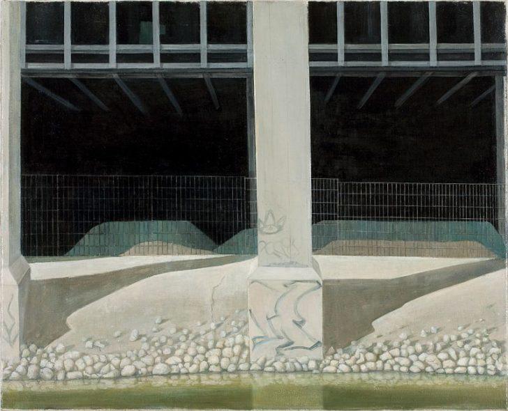 Doris Ziegler, Ufer, 65x80 cm, 2009, Mischtechnik auf Leinwand