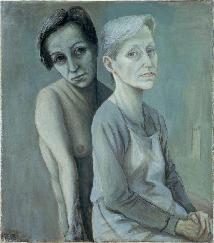 Doris Ziegler, Doppelbildnis D.Z., 86x75,5 cm, 1985-2004, Öl auf Leinwand