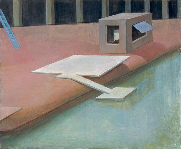 Doris Ziegler, Anlegestelle, 50x60 cm, 2006, Mischtechnik auf Leinwand