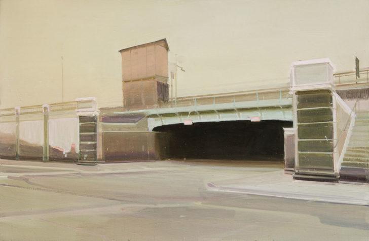 Eric Keller, Bischoffsweg II, 95x145 cm, 2011, Öl auf Hartfaser