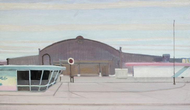 Eric Keller, Depot, 70x120 cm, 2011, Öl auf Hartfaser