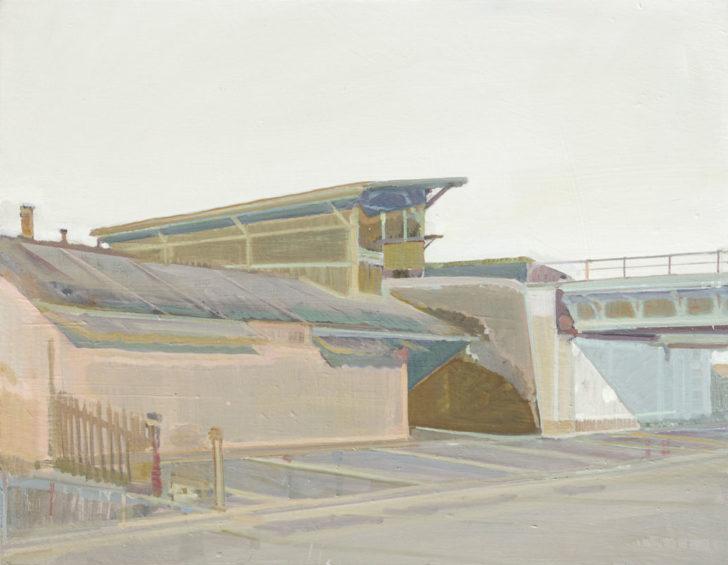 Eric Keller, HP Pieschen, 70x90 cm, 2011, Öl auf Hartfaser