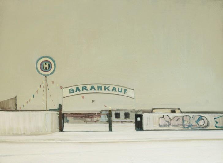 Eric Keller, KFZ-Hinze, 95x130 cm, 2011, Öl auf Hartfaser