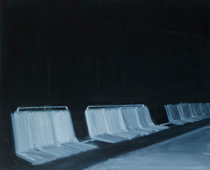 Eric Keller, Nachts III, 65x80 cm, 2010, Öl auf Hartfaser
