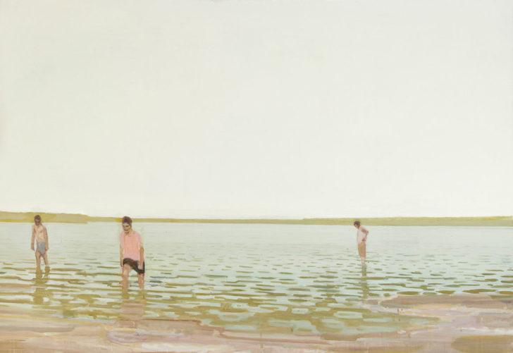 Eric Keller, Strandtag, 130x180 cm, 2010/11, Öl auf Hartfaser