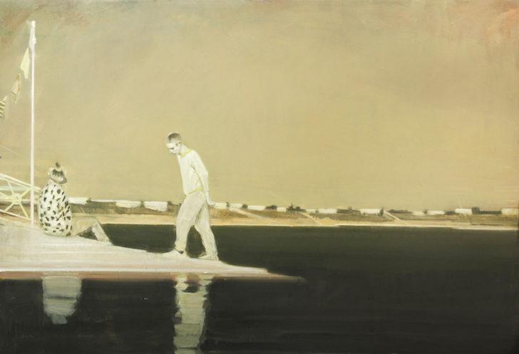 Eric Keller, Talsperre, 130x180 cm, 2010/11, Öl auf Hartfaser