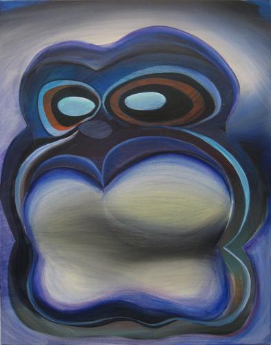 Marten Kirbach, Geist I, 85x65 cm, 2012, Acryl auf Leinwand