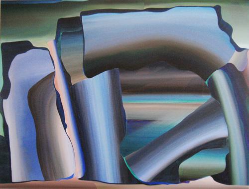 Marten Kirbach, Bruchstücke, 95x136 cm, 2013, Acryl auf Leinwand