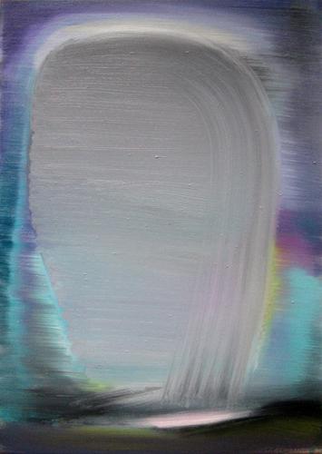 Marten Kirbach, Erscheinung II, 50x35 cm, 2012, Acryl auf Leinwand