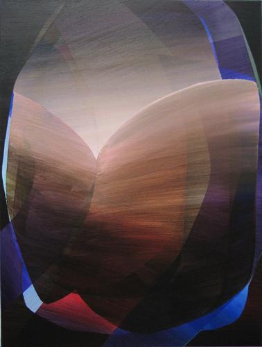 Marten Kirbach, Erscheinung, 80x60 cm, 2012, Acryl auf Leinwand