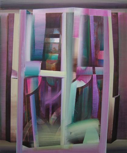 Marten Kirbach, Fenster, 125x105 cm, 2012, Acryl auf Leinwand