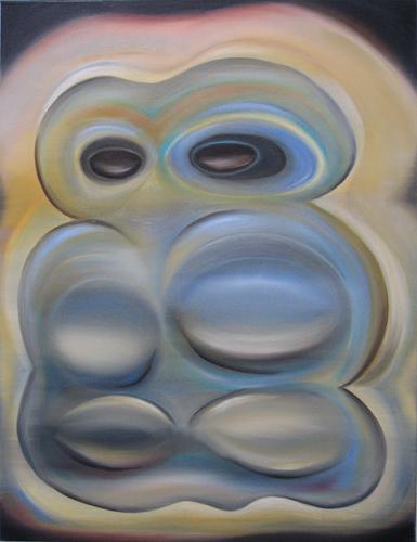 Marten Kirbach, Geist I (Version), 85x65 cm, 2013, Acryl auf Leinwand