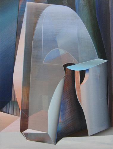 Marten Kirbach, Gestalt, 60x45 cm, 2013, Acryl auf Leinwand