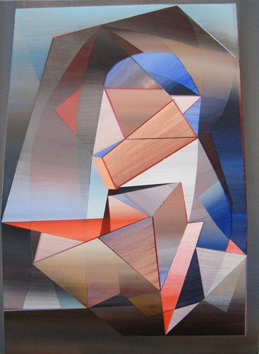 Marten Kirbach, o. T., 70x50 cm, 2013, Acryl auf Leinwand