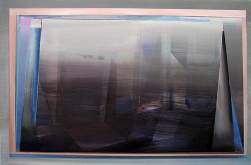 Marten Kirbach, Stadt im Nebel, 90x135 cm, 2012, Acryl auf Leinwand