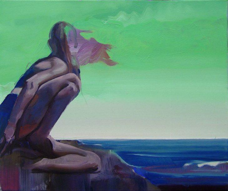 Rayk Goetze, Ausguck, 50x60 cm, 2008, Öl auf Leinwand
