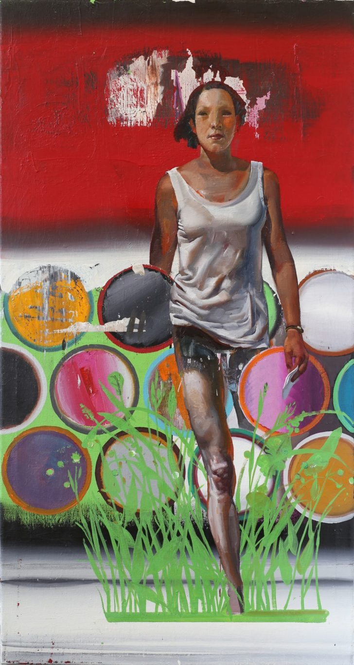 Rayk Goetze, Botin, 160x85 cm, 2015, Öl und Acryl auf Leinwand