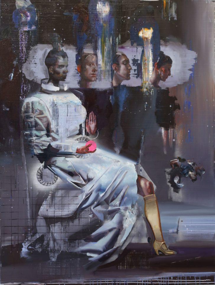 Rayk Goetze, Die Siebte Fee, 200x150 cm, 2015, Öl und Acryl auf Leinwand