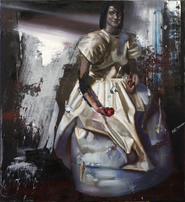 Rayk Goetze, Falscher Gruß, 130x110 cm, 2015, Öl und Acryl auf Leinwand