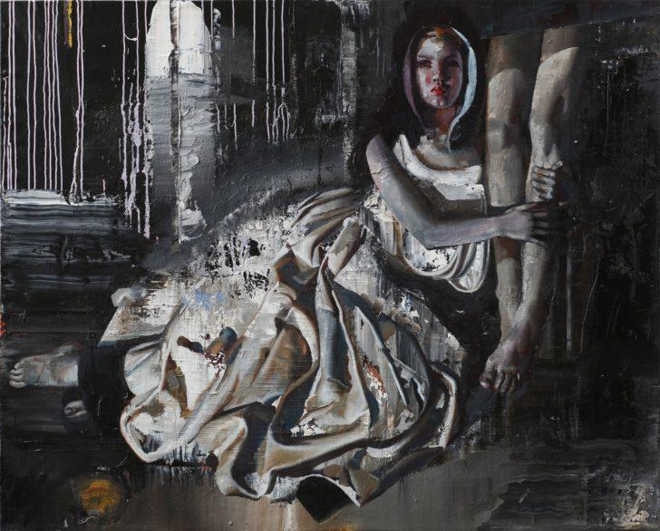 Rayk Goetze, MM, 120x150 cm, 2015, Öl und Acryl auf Leinwand