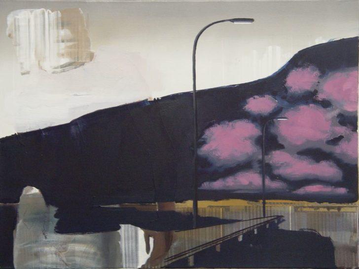 Rayk Goetze, Steg, 60x80 cm, 2007, Öl auf Leinwand
