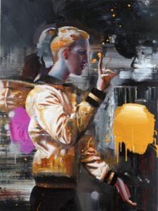 Rayk Goetze, Weisung, 120x90 cm, 2015, Öl und Acryl auf Leinwand