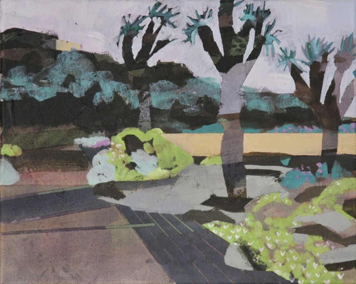 Susanne Wurlitzer, Drachenbäume, 2012, Acryl auf Leinwand