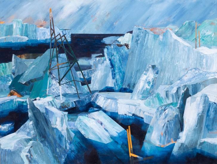 Susanne Wurlitzer, Eismeer, 60x80 cm, 2013, Acryl auf Leinwand
