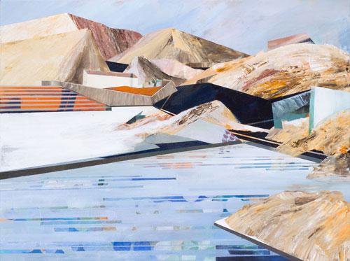Susanne Wurlitzer, Sand, 60x80 cm, 2013, Acryl auf Leinwand