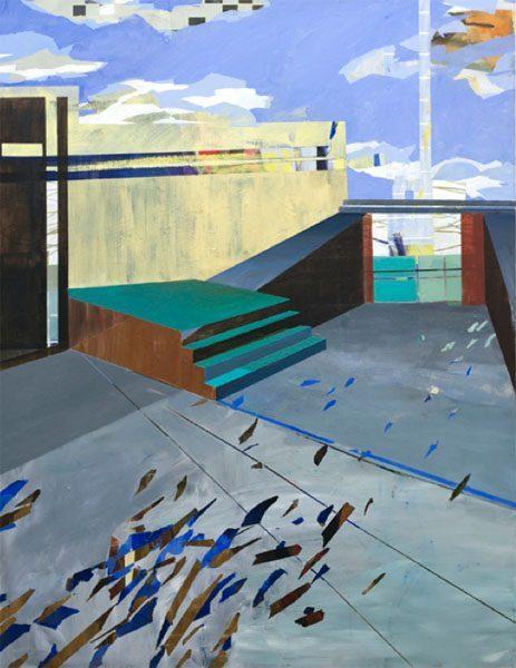 Susanne Wurlitzer, Uncharted I, 120x90 cm, 2012, Acryl auf Leinwand