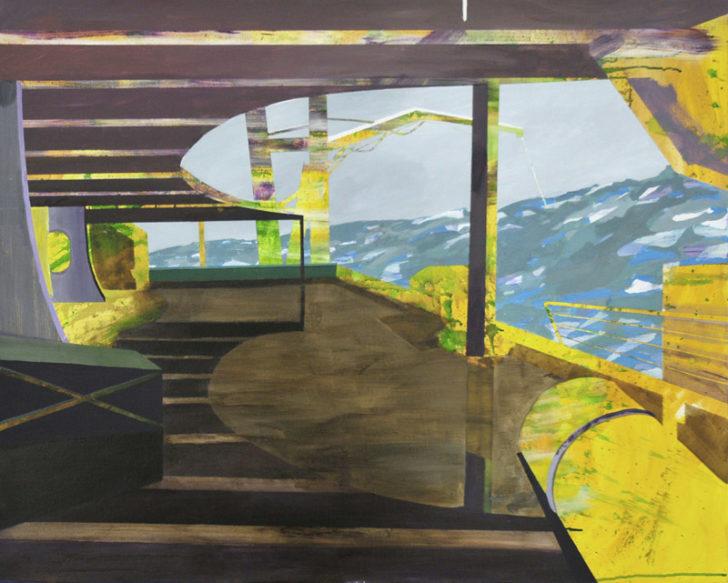 Susanne Wurlitzer, Unchartes IV, 80x100 cm, 2012, Acryl auf Leinwand