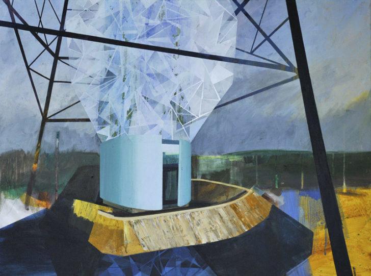 Susanne Wurlitzer, Verborgene Orte, 2012, Acryl auf Leinwand