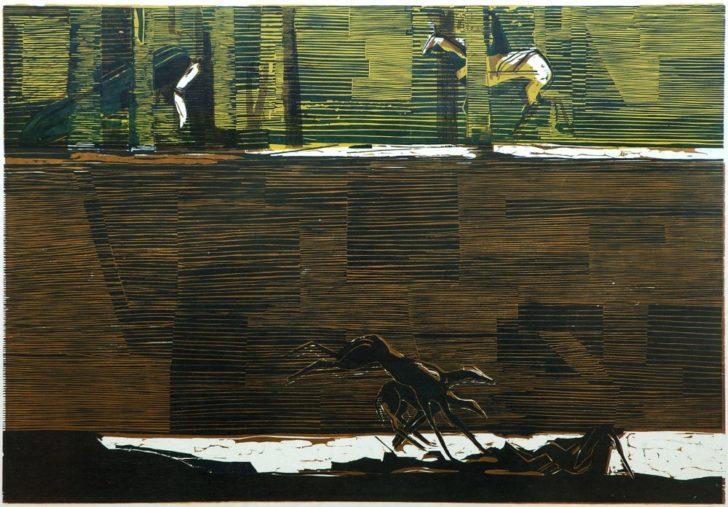 Therese Heller, Wand II, 2007, Dreifarbdruck
