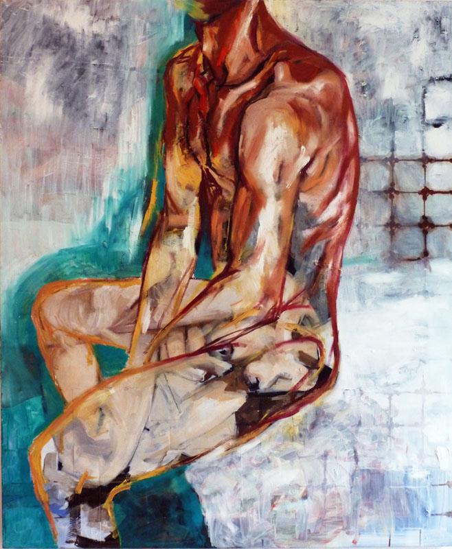 Agnes Michalczyk, Ben, 120x100 cm, 2012, Acryl und Öl auf Leinwand
