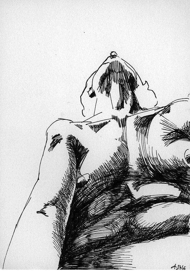 Agnes Michalczyk, Zeichnung 8, DIN A5, 2009, Tinte auf Papier
