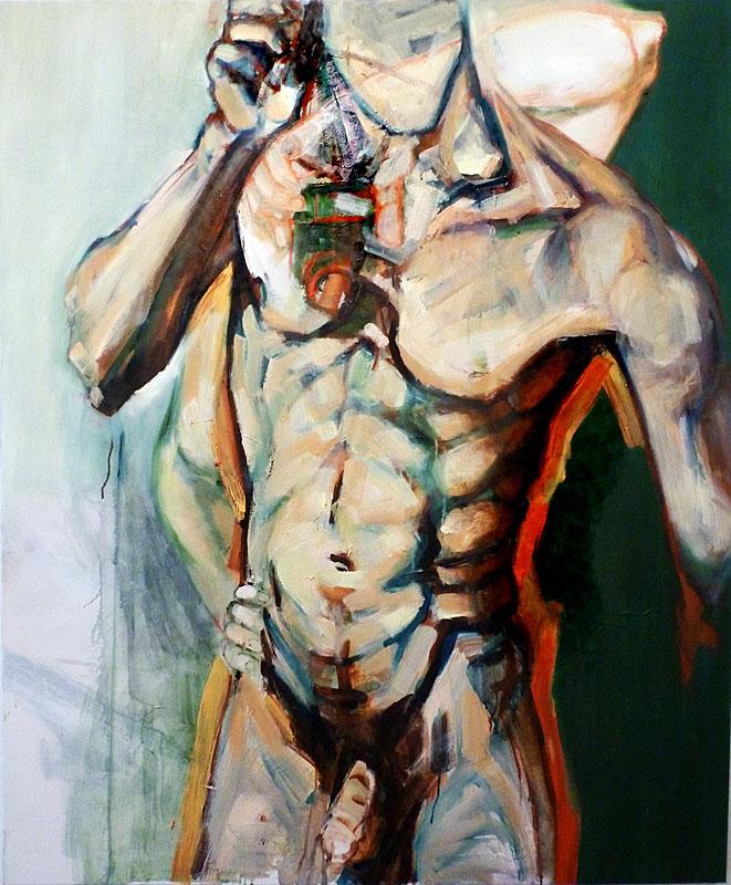 Agnes-Michalczyk_o.T., 2012, Acryl Oel auf LW, 100 x 80cm_www.galerie-irrgang.com