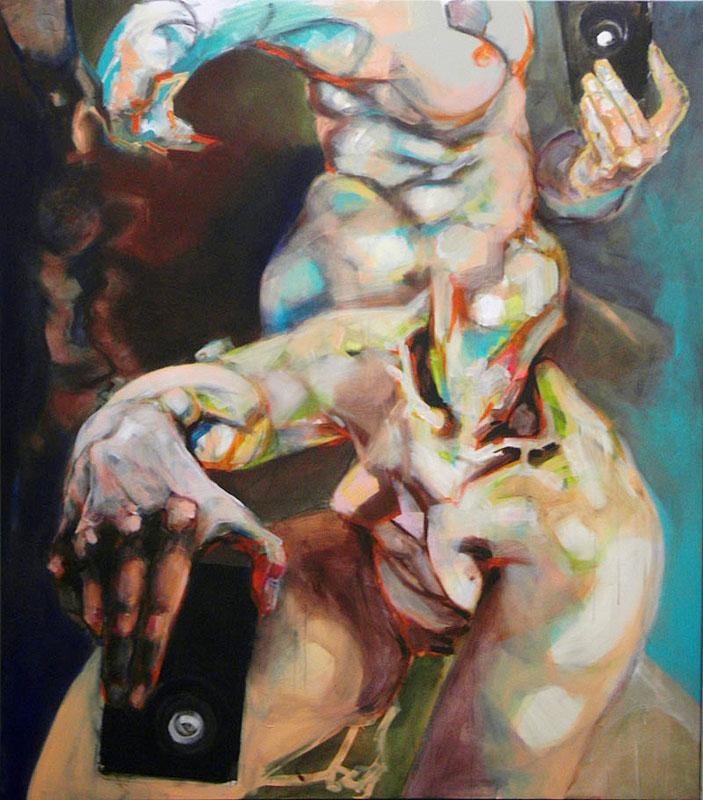 Agnes Michalczyk, o. T., 170x150cm, 2010, Öl auf Leinwand