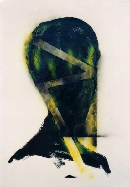 Madeleine Heublein, Diffusion I, 100x70 cm, 1997, Mischtechnik