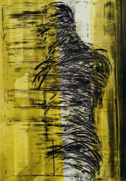Madeleine Heublein, Goldsucher, 80x60 cm, 1996, Lichtdruck