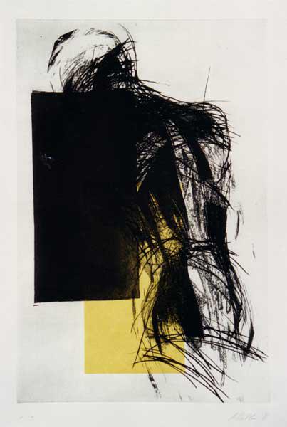 Madleine Heublein, o. T., 80x60 cm, 1997, Radierung,
