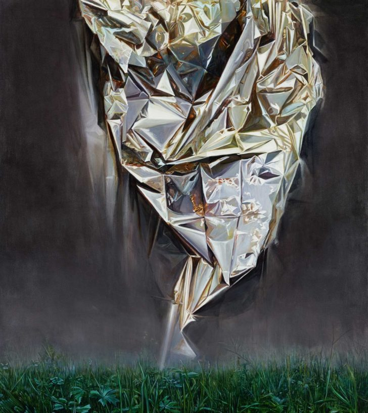 Mathias Perlet, Fata Morgana, 180x160 cm, 2015, Mischtechnik auf Leinwand